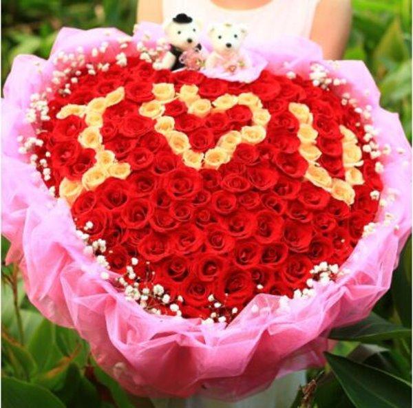 传统的七夕节要到来了,这是一个男生向女生表达爱意的节日.图片